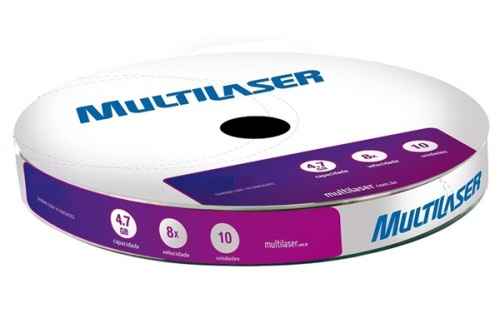 M�dia Multilaser DVD-RW 4x - Shrink 10 unidades