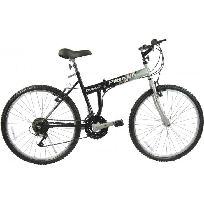Bicicleta Prince Doblô Aro 26 - Preto e Prata