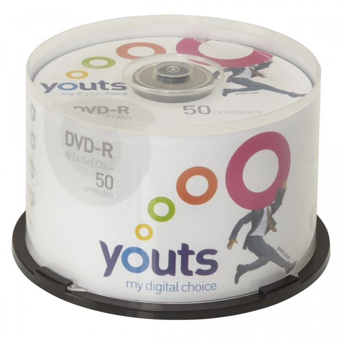 DVD-R Youts Printable White Cake com 50 discos