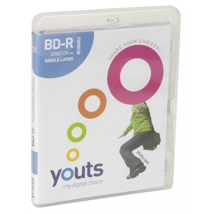 Blu-Ray BD-R Youts 4x 25GB - Estojo Amaray