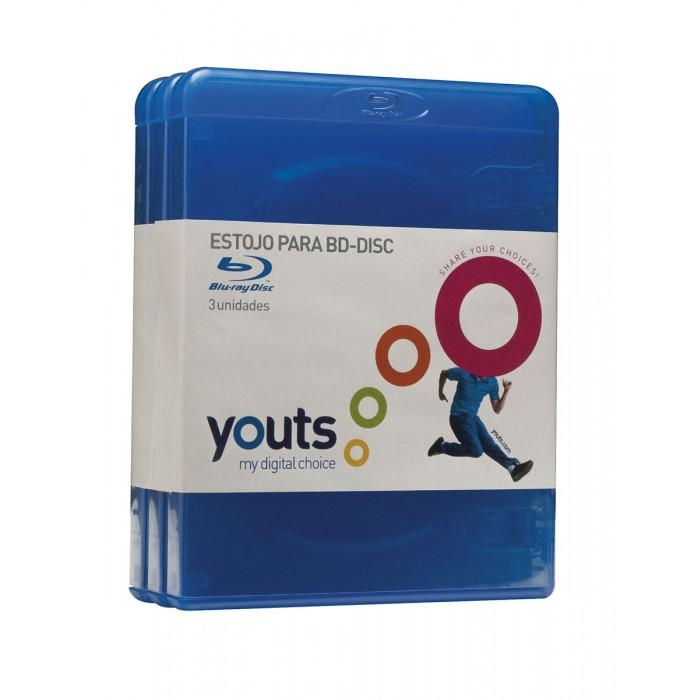 Embalagem para BluRay Youts Azul - Pack com 3