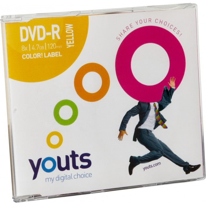 DVD-R Youts Slim Color Label Yellow