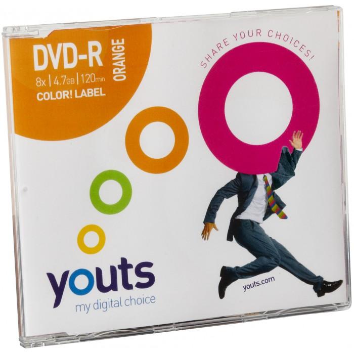 DVD-R Youts Slim Color Label Orange