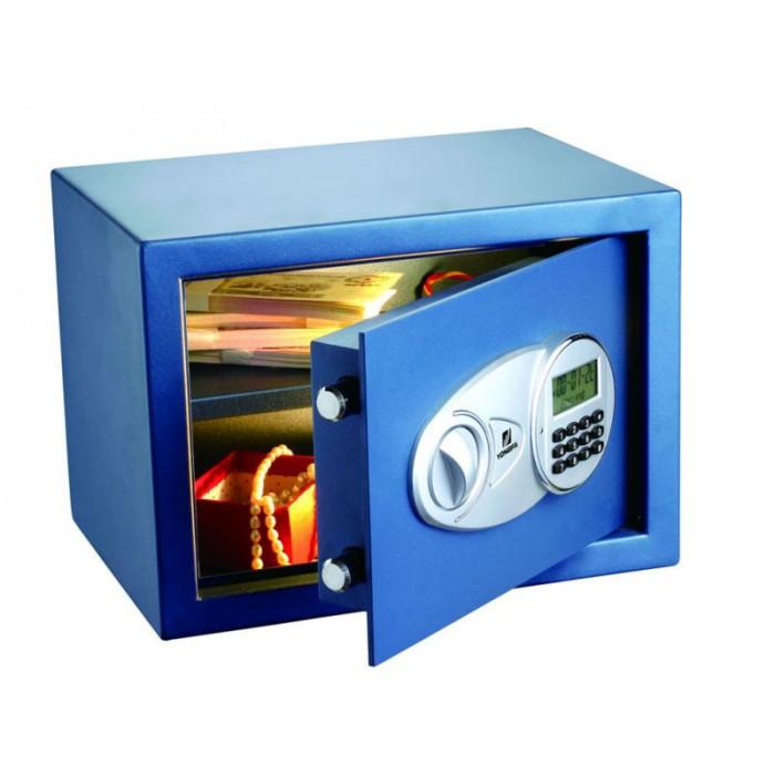 Cofre Safewell Eletrônico com tela LED 30EID - Medidas Externas (AxCxP): 300x380x300mm, Capacidade: 26L, Código de 3 a 8 dígitos