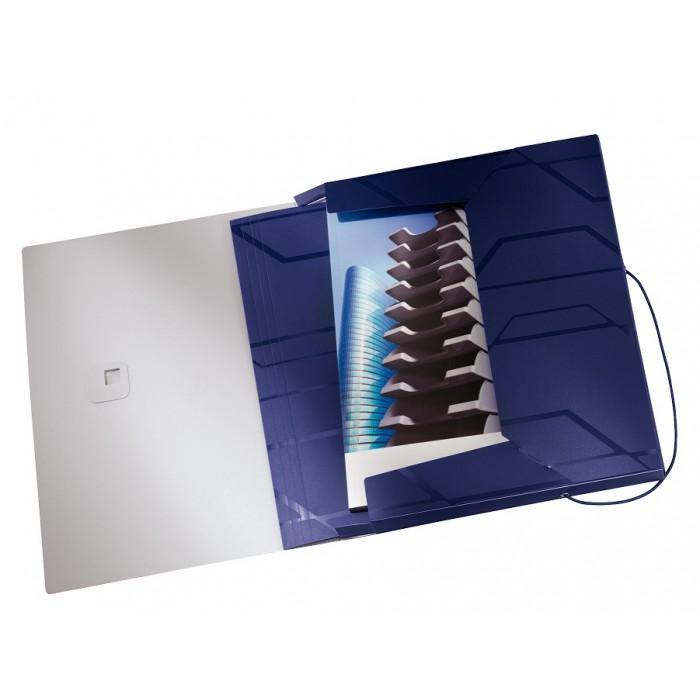 Pasta Box Esselte Prestige Azul - Lombada: 30mm, Capacidade: 250 fls