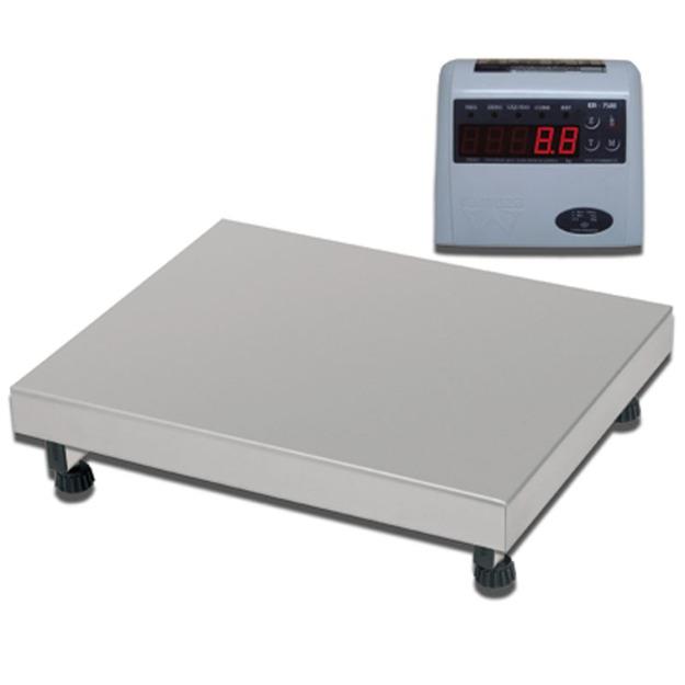 Balança Industrial Plataforma Digital de Aço Inox 304 Ramuza Capacidade de 100Kg base de 40x50cm IDR de ABS Sem Bateria