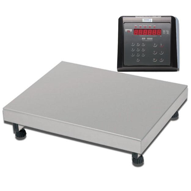 Balança Industrial Plataforma Digital de Aço Inox 304 Ramuza Capacidade de 500Kg base de 60x60cm IDR de ABS com Bateria