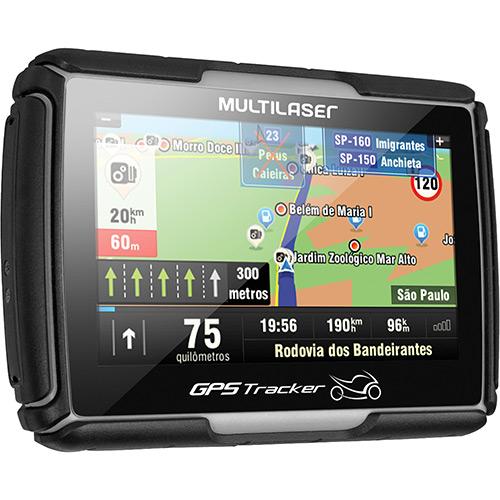 GPS para Moto Multilaser GP022 Tela 4.3´ - Resistente à água, Função TTS (fala o nome das ruas) e Cobertura em mais de 2500 cidades