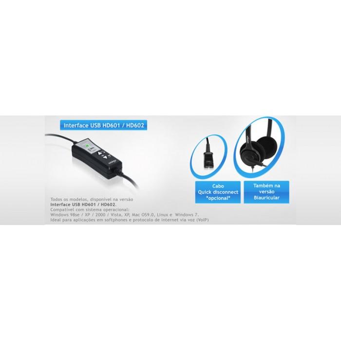 Interface USB Unixtron - Velocidade de 2.0, com funções mute, controle de volume de recepção, controle de volume de microfone