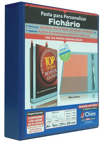 Pasta Chies para Personalizar - Fichário - 2 Argolas - A4 - Azul Royal Ref.: 1713-5