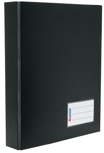 Pasta Catálogo Chies A4 Jumbo c/ 100 refis e 2 Porta Cartões - Preta - Ref.: 1224-6