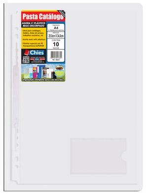 Pasta Catálogo Chies com Presilha Plástica - Cristal - Ref.: 4030-0