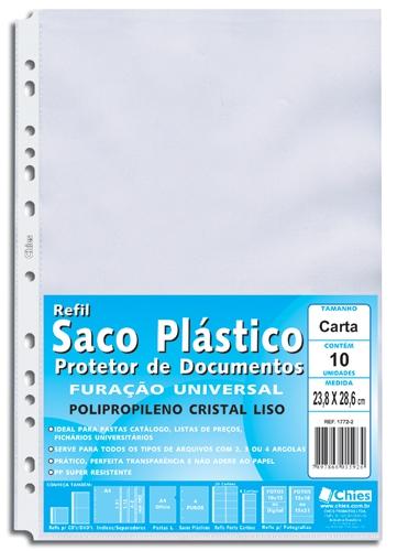 Protetor de Documentos Chies Furação Universal Carta - Cristal Liso - Ref.: 1772-2