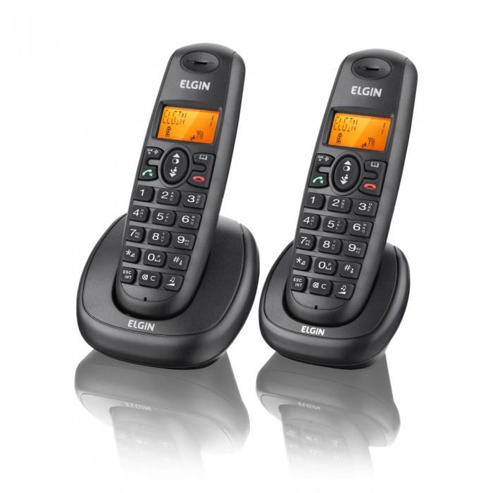 Telefone sem  fio Elgin TSF-7002 - Tecnologia DECT 6.0, Identificador de Chamadas, Viva-Voz e Display Iluminado