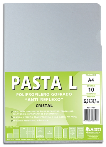 Pasta L Chies A4 120 my - Cristal - Ref.: 1440-0