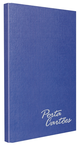 Porta Cartões Chies c/solda 120 cartões - Azul Royal - Ref.: 1582-7