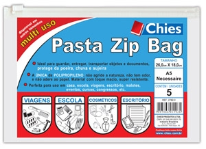 Pasta Chies Zip Bag - Ofício / A5 / Necessaire - Fab.2782