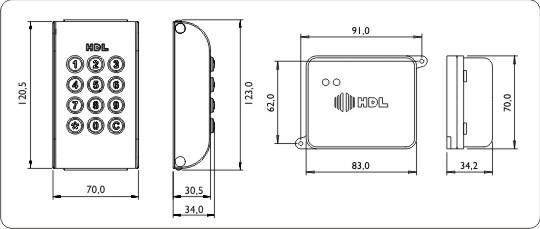 Kit Controle de Acesso HDL com Teclado Numérico + Rádio Receptor