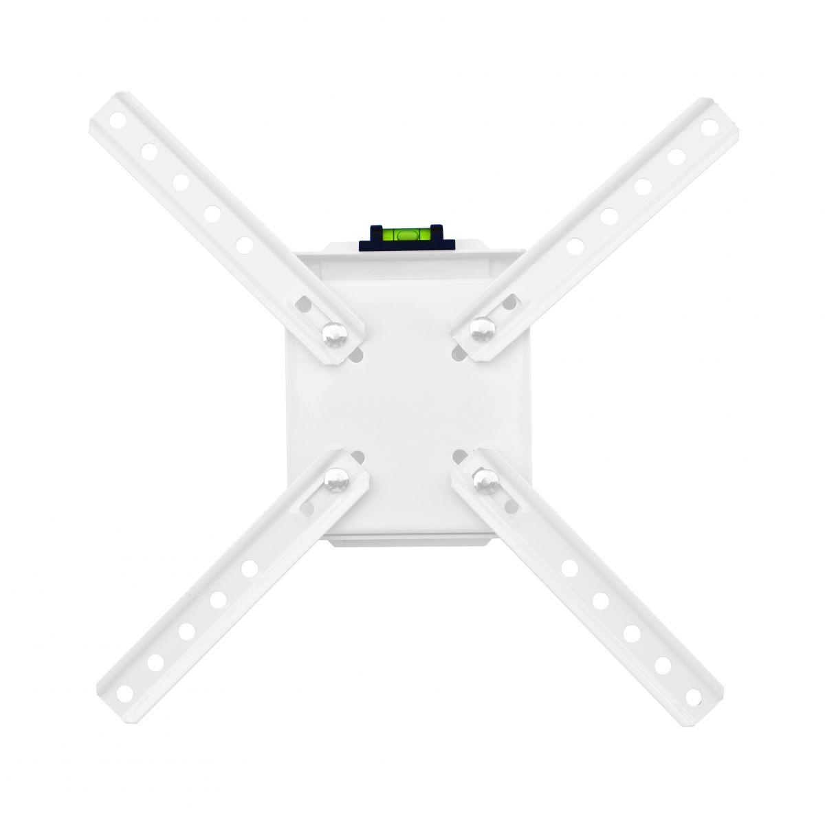Suporte de Parede Fixo ou Inclinável Brasforma SBRLB110B - para TV LCD|LED|PLASMA|3D 10´ a 42´, Cor: Branco