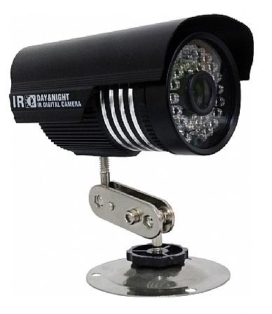 Câmera Infravermelho Yub 24 Leds Lente 3,6mm 25m ccd Sharp Preto