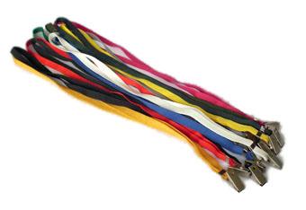 Cord�o para crach� com clips embalagem com 25 unid. Mares Amarelo