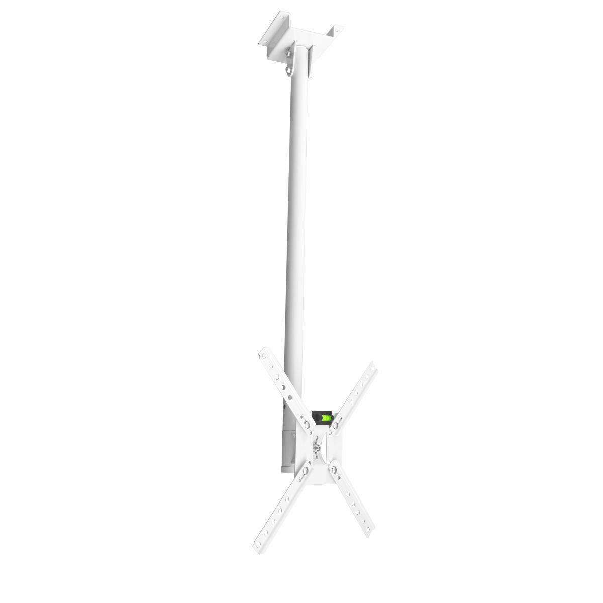 Suporte de teto Brasforma SBRP150B para TV Plasma/LCD de 10´ à 40´ Branco - giro 360º (braço reg. 80 cm)