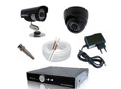 Kit CFTV Yub - DVR, 16 Câmeras Infra com 24 Leds, 300 metros de Cabo, Fonte, Conectores
