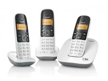 Telefone sem Fio DECT 6.0 Gigaset A490 Trio Branco