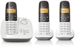 Telefone sem Fio DECT 6.0 Gigaset A495 Trio Branco