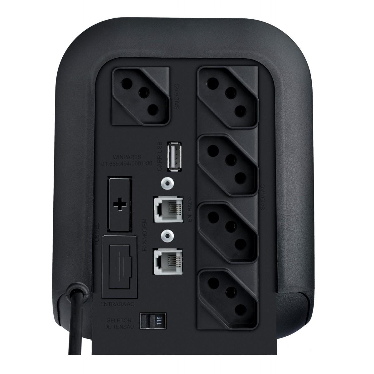 Estabilizador Exs II Power Enermax 1000va Mono 220v Preto
