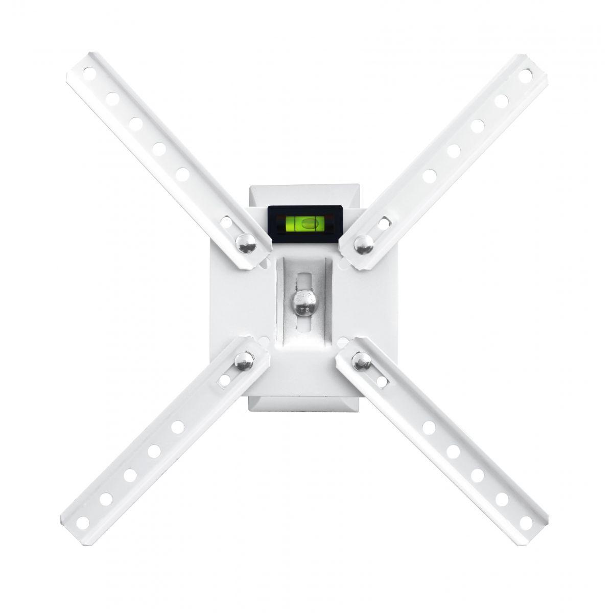 Suporte de parede Brasforma Articulado (3 movimentos) para TV LCD, LED, PLASMA de 10´ a 42´ SBRLB130 Branco