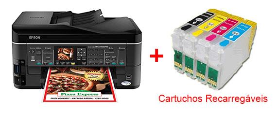 Multifuncional Epson TX620FWD + Cartuchos Recarregáveis