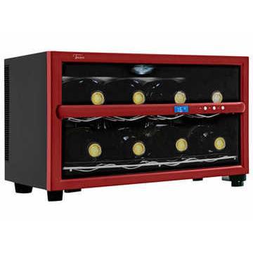 Adega Climatizada Digital para Garrafas de Vinho Tocave T8D Digital Vermelha 110V