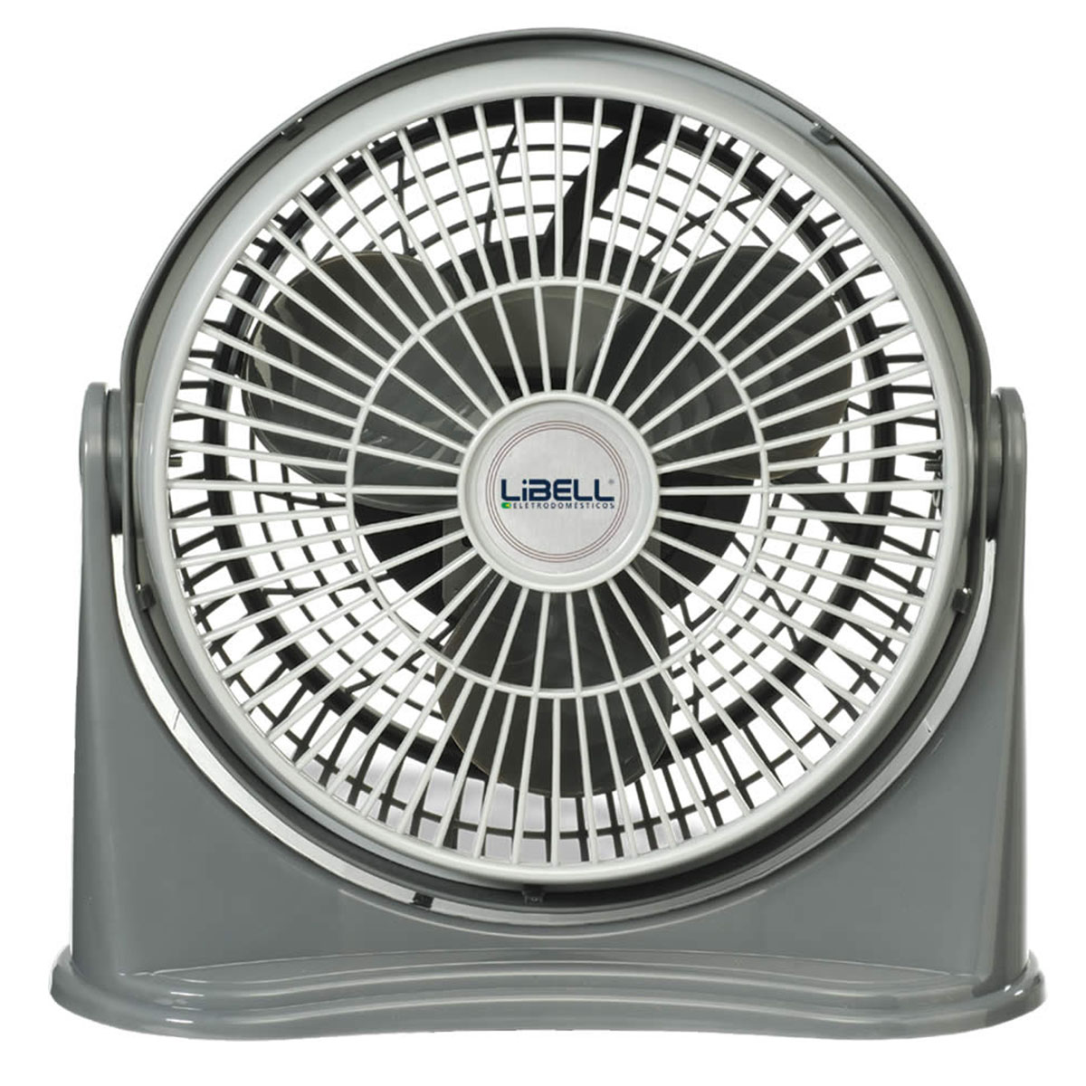 Ventilador Libell Style Cinza 20cm, 3 velocidades, 220V