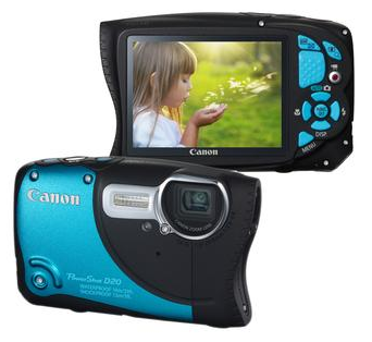 Câmera Digital Canon - Powershot D20 – 12.1MP – Preta – LCD 3.0
