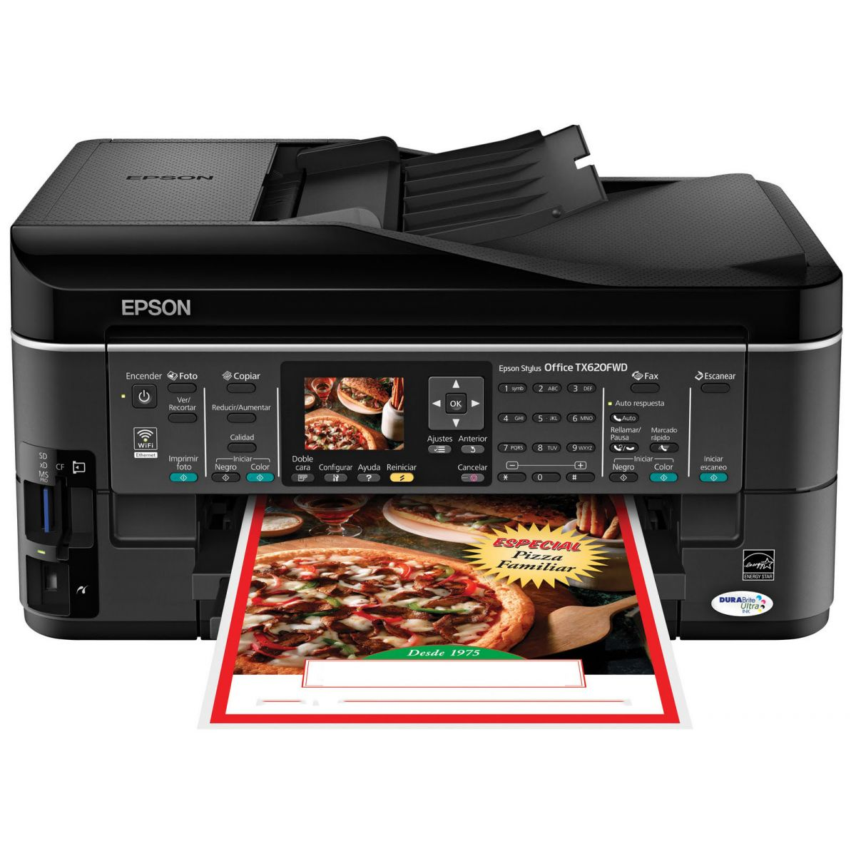 Impressora Epson TX620 com Bulk Ink instalado + 400 ml de tinta pigmentada