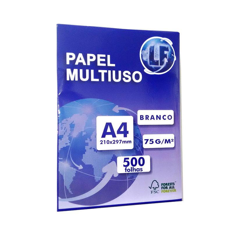Papel Sulfite A4 Branco LF 500 folhas