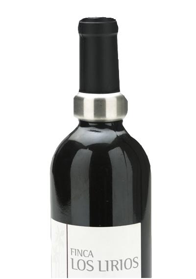 Salva gotas Tocave Evita Escorrer Gotas de Vinho produzido em Aço Inox e Feltro