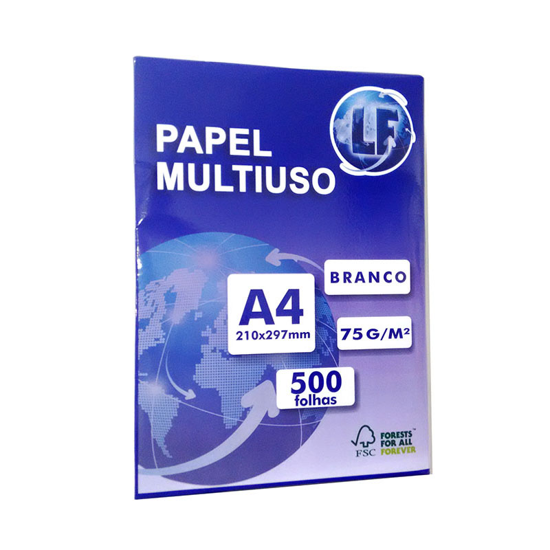 Papel Sulfite A4 Branco LF 5000 folhas