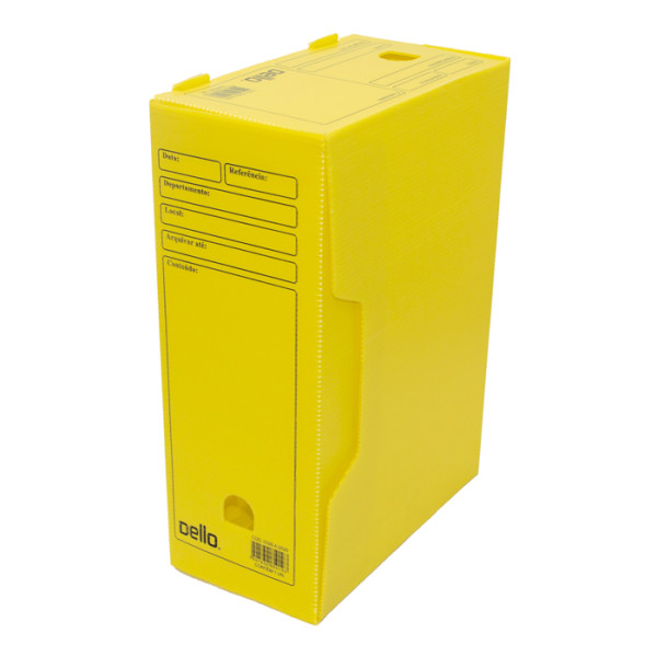Caixa De Arquivo Morto Oficio Polidello DELLO Amarelo 0326 C/25 Unid.