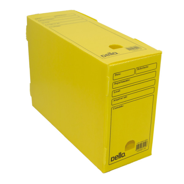 Caixa De Arquivo Morto Oficio Polidello DELLO Amarelo 0326