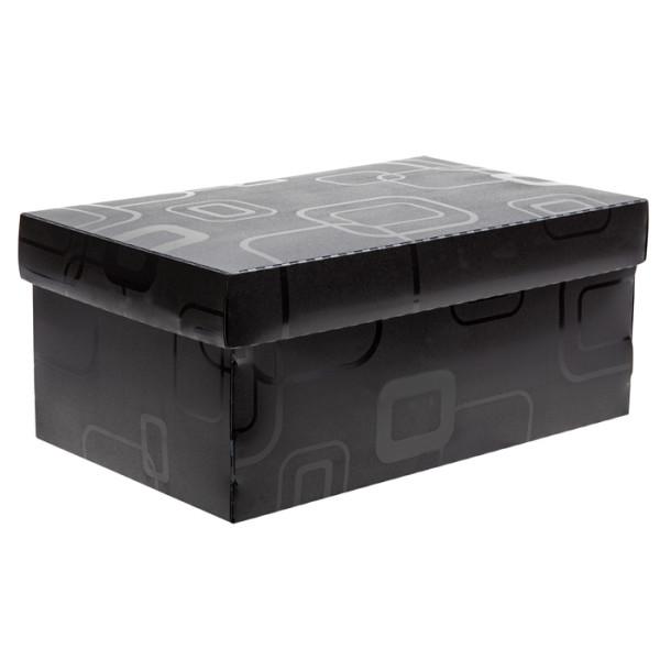 Caixa Organizadora Mini Sapato DELLO Preto 2169 C/5 Unid.