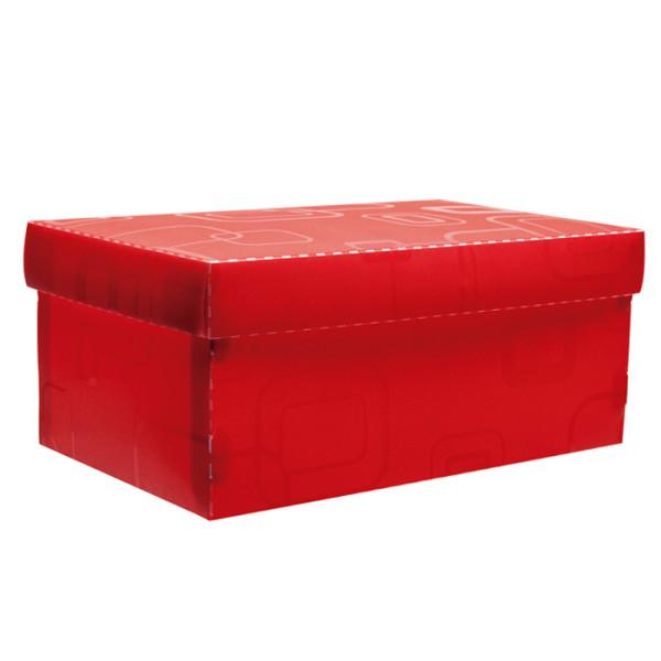Caixa Organizadora Mini Sapato DELLO Vermelho 2169 C/5 Unid.