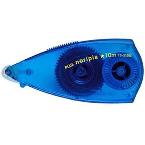 Cola em Fita Noripia Plus Japan - 6mm e fita de 10m, descartável, Azul