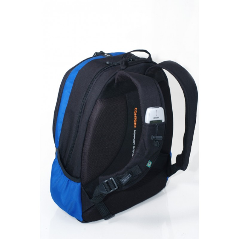 Mochila para Notebook Portare Sportive Comfort Preto/Azul Royal 14´-16´ - 94166