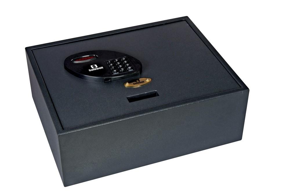 Cofre p/ Gaveta Safewell DS-S01 - Medidas Externas (AxLxP): 145x400x350mm, Capacidade: 20L