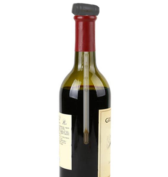 Termômetro Tocave Para Vinho e Bebidas com Embalagem de Couro