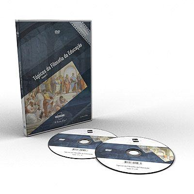 CURSO TÓPICOS DE FILOSOFIA DA EDUCAÇÃO EM DVD VÍDEO AULA + LIVRO IMPRESSO  - Mundo dos Cursos
