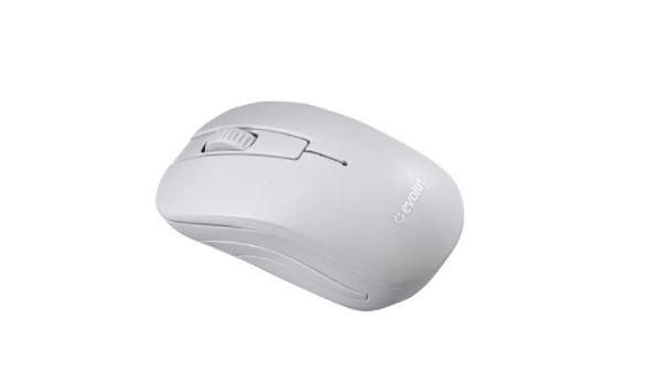Combo Teclado + Mouse Office EO502 Branco Sem Fio Evolut