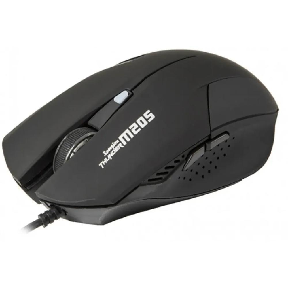 Mouse Gamer Marvo M205 BK Wired, 2400 DPI, 6 Botões, Led 7 Cores, Black